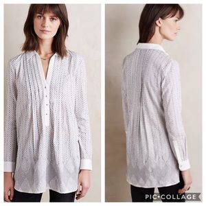 Anthropologie Asha Embroidered Tunic
